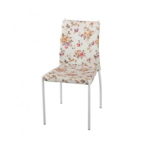 K169 krzesło beżowe z wzorami  w sklepie Dedekor.pl