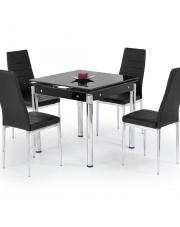 Rozkładany stół KENT czarny