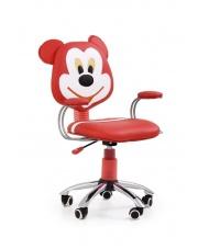 Krzesło obrotowe dla młodzieży MIKE czerwono-kremowe w sklepie Dedekor.pl
