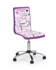 Krzesło młodzieżowe FUN fioletowo-białe w sklepie Dedekor.pl