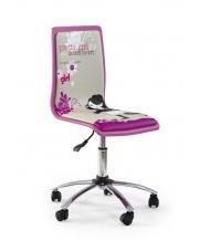 Krzesło dla dzieci i młodzieży FUN różowo-szare w sklepie Dedekor.pl