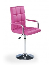 Krzesło obrotowe GONZO różowe w sklepie Dedekor.pl