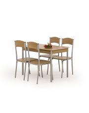 Zestaw 4 krzeseł i stołu LONGIN orzech w sklepie Dedekor.pl