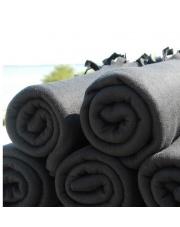 Czarne koce z frędzlami 130x160cm 10 sztuk