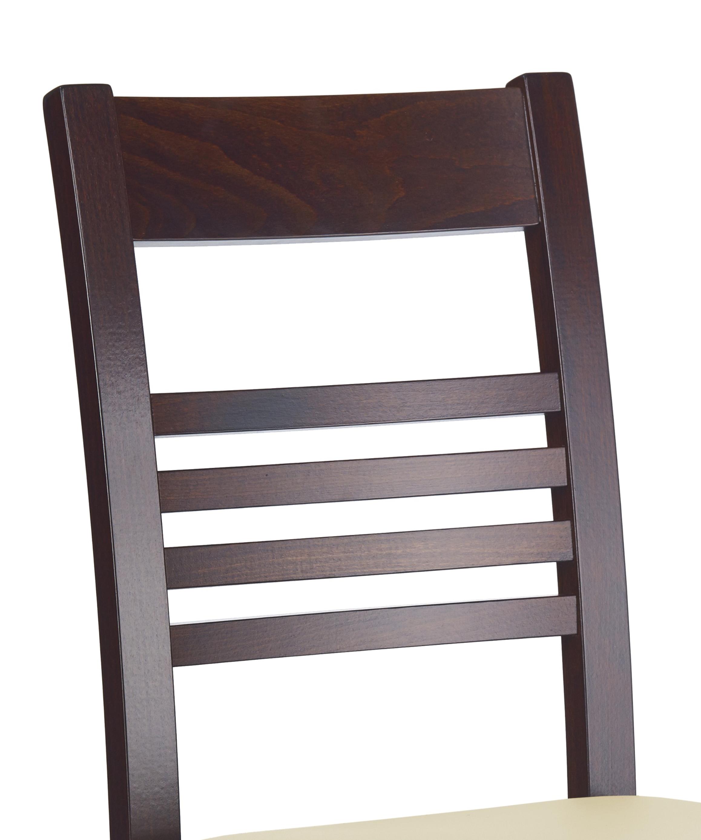 Krzesło Ze Skórzanym Obiciem Juliusz Ciemny Orzech Meble