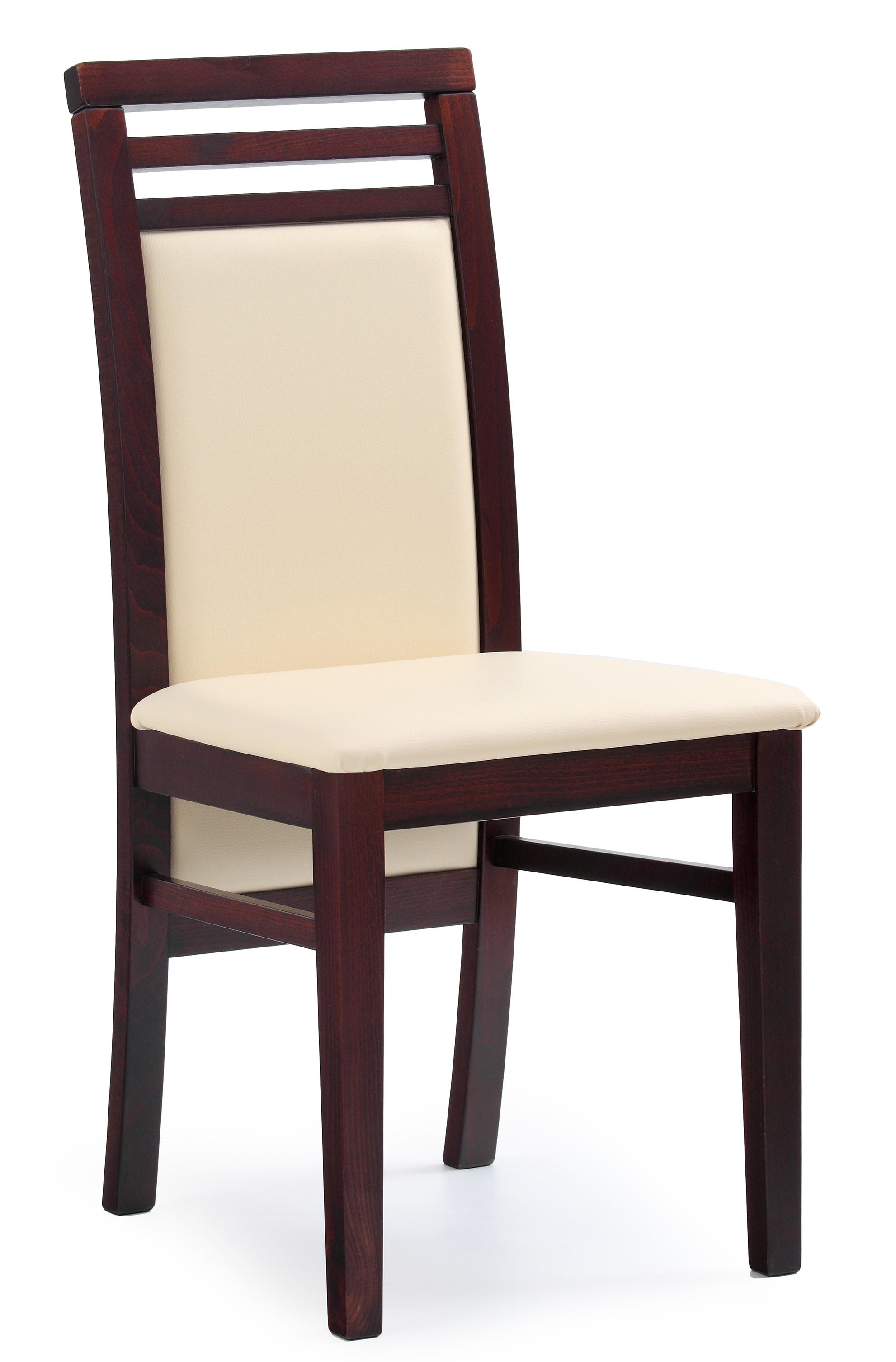 Krzesło Drewniane Z Obiciem Z Ekoskóry Sylwek 4 Ciemny