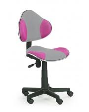Młodzieżowy fotel do biurka FLASH różowy
