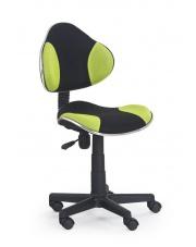 Krzesło obrotowe dla nastolatków FLASH zielono-czarne w sklepie Dedekor.pl