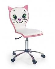 Fotel młodzieżowy różowo-biały Kitty II