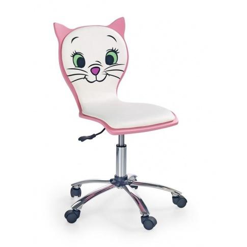 Fotel Młodzieżowy Różowo Biały Kitty Ii