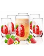 Szklanki do drinków, soków 320 ml truskawka