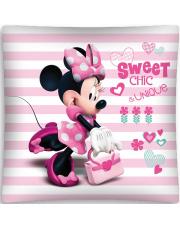 Poszewka Disney 40x40 Minnie różowa