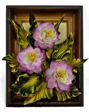 Obraz skórzany Fioletowe kwiaty