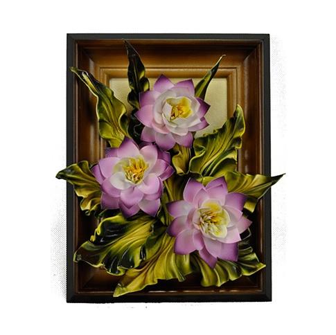 Obraz skórzany Fioletowe kwiaty w sklepie Dedekor.pl