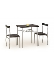 Zestaw stołowy dla dwóch osób LANCEwenge w sklepie Dedekor.pl