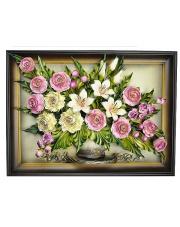 Obraz ze skóry kwiaty 5.550