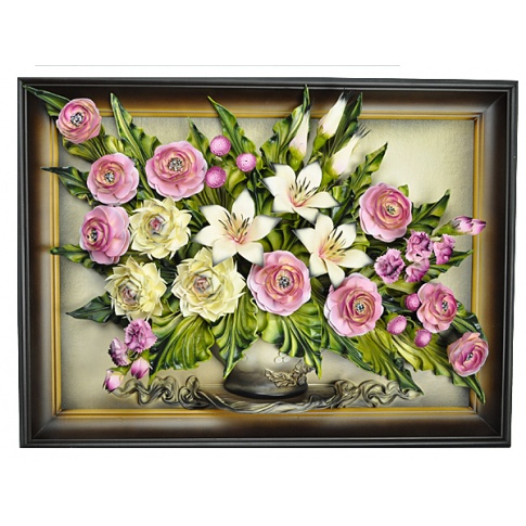Obraz ze skóry kwiaty 5.550 w sklepie Dedekor.pl