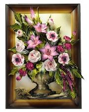 Obraz ze skóry kwiaty 5.167