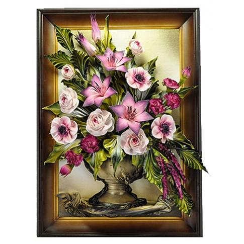 Obraz ze skóry kwiaty 5.167 w sklepie Dedekor.pl