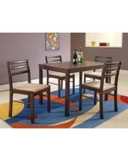 NEW STARTER zestaw stół + 4 krzesła espresso w sklepie Dedekor.pl