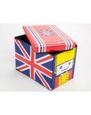 Pufa/pojemnik na zabawki dla dziecka UK Flag w sklepie Dedekor.pl