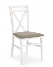 Stylizowane krzesło z drewna Dariusz białe