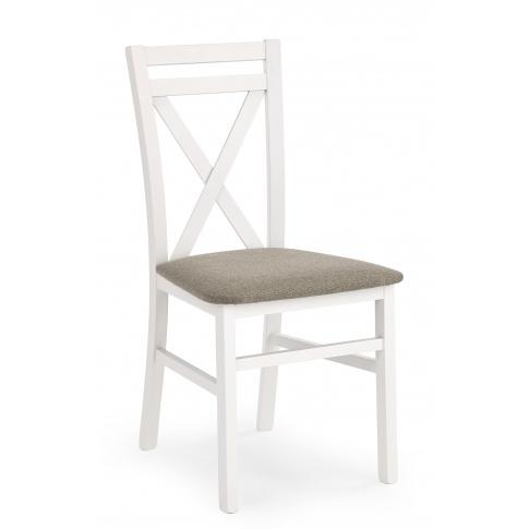 Stylizowane krzesło z drewna Dariusz białe w sklepie Dedekor.pl
