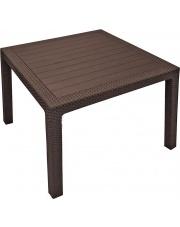 Stół ogrodowy Corfu brąz 95x95 cm
