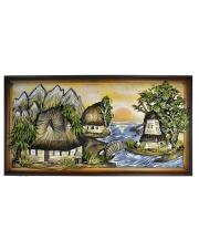 Obraz chata góry, rozmiar: 150x80 cm