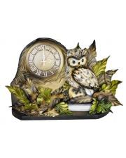 Zegar kominkowy z sową na książce w sklepie Dedekor.pl