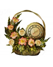Kosz z kwiatami i zegarem  33ZE/03 w sklepie Dedekor.pl