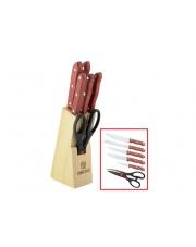 Zestaw noży w drewnianym bloku KH-3442 w sklepie Dedekor.pl