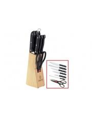 Zestaw stalowych noży w drewnianym bloku Kinghoff KH-3444