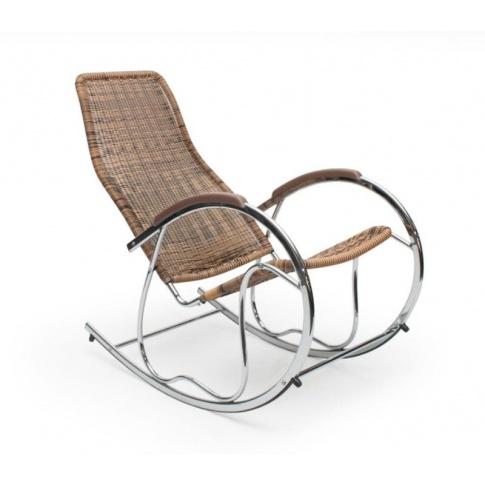 Świetny fotel bujany BEN 2 brązowy w sklepie Dedekor.pl