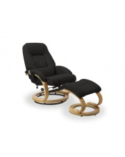 MATADOR rozkładany fotel z funkcją masażu czarny