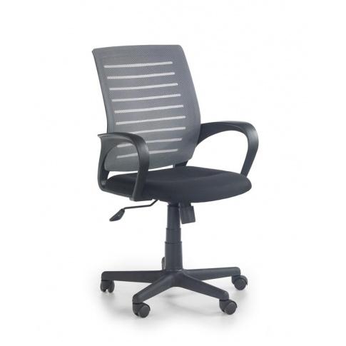Fotel pracowniczy czarno-popielaty w sklepie Dedekor.pl