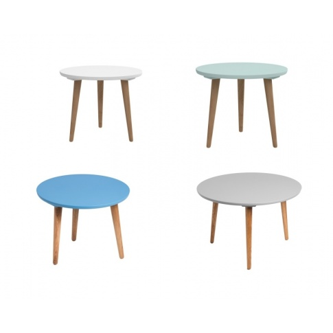 Okrągły stolik MILO - 4 kolory w sklepie Dedekor.pl