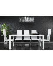 Biał stół CONRAD wysoki połysk