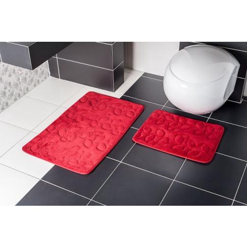 Dywaniki Do łazienki Ibiza Czerwone