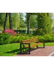 Ławka ogrodowa 150 cm drewniana z oparciem w sklepie Dedekor.pl