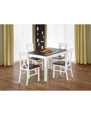 Rozkładany stół VITAS biel + ciemny orzech w sklepie Dedekor.pl