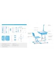 Komfortowy zestaw YOLENE - biurko + krzesło