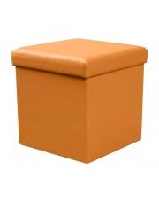 Pomarańczowa pufa ISIDOR