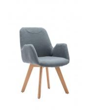 Popielaty fotel wypoczynkowy ERAST w sklepie Dedekor.pl