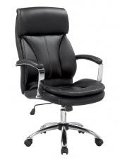 Czarny fotel gabinetowy BERNARD