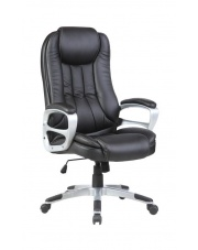 Czarny fotel do gabinetu LARSON