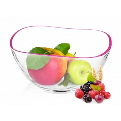 Salaterka 21 cm kolorowe obrzeża 5 kolorów  w sklepie Dedekor.pl