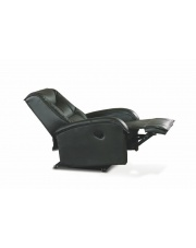Rozkładany fotel wypoczynkowy czarny