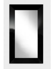 Nowoczesne lustro w ramie czarny/biały połysk