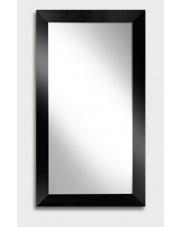 Eleganckie lustro rama czarny połysk 120x60cm